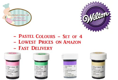 Wilton Pastel Food Colouring Gel Paste. Cake & Cupcake Decorating. Set of 4 Colours