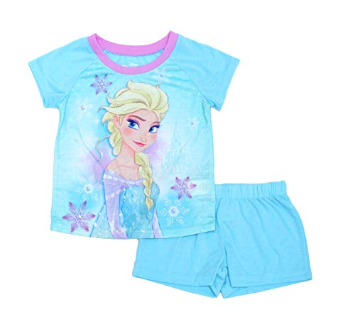 Disney Frozen PJ PALS Pajamas Short Set for Girls, Blue/Purple, 10