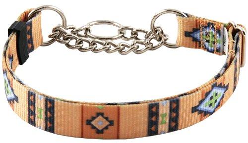 Country Brook Design Native Southwestern Half Check Dog Collar - Medium
