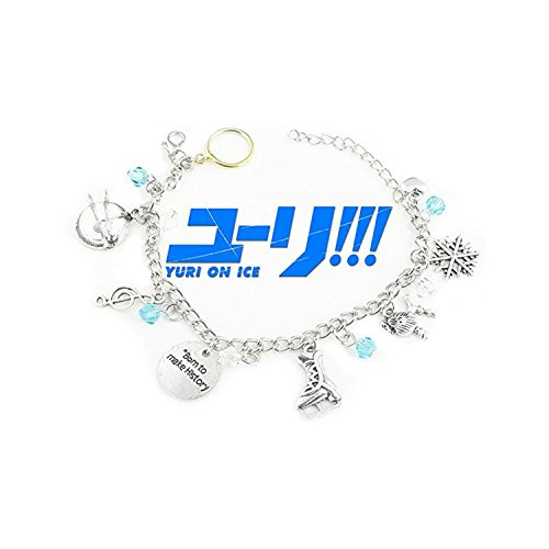 Superheroes Brand Yuri! On Ice Anime Inspired Jewelry Collection Multiple Charms Bracelet w/Gift Box]()
