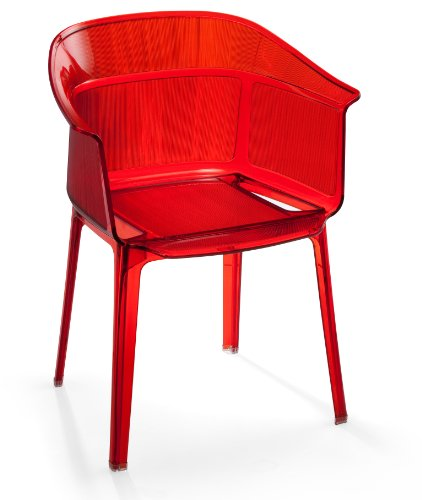 Zuo set of 4 allsorts stacking outdoor dining chairs transparent red chairs patio and furniture Home and furniture allsorts