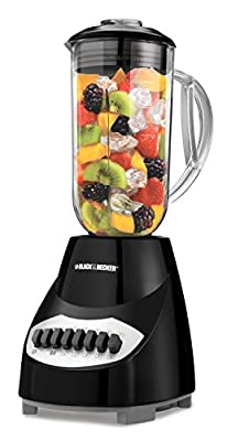 BLACK+DECKER BL2010BP Crush Master 10-Speed Blender, Black