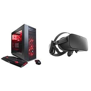 CYBERPOWERPC Oculus Ready GXiVR8020A Gaming Desktop & Oculus Rift Virtual Reality Headset Bundle