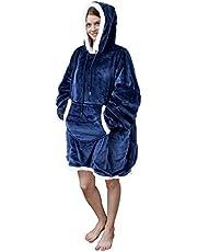 Viviland Hoodie Sherpa Blanket Sweatshirt Soft Warm Plus Large Front Pocket Tv Blankets for Adult