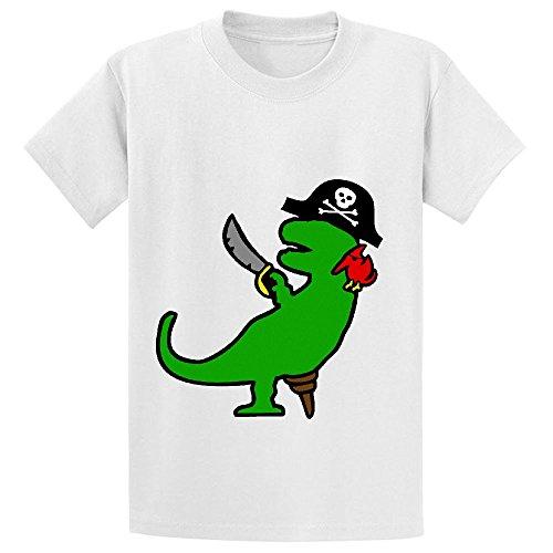 Pirate Dinosaur T Rex Youth Crew Neck Short