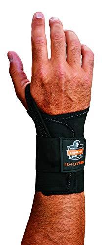 (Ergodyne ProFlex 4000 Single Strap Wrist Support, Black - Medium, Left)