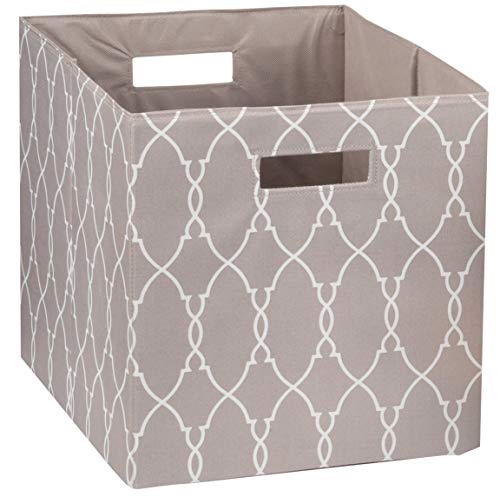 (Better Homes and Gardens Collapsible Fabric Storage Cube - Taupe Trellis)