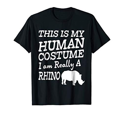 Chubby Rhino Unicorns Halloween Tshirt Human Costume Gift ()