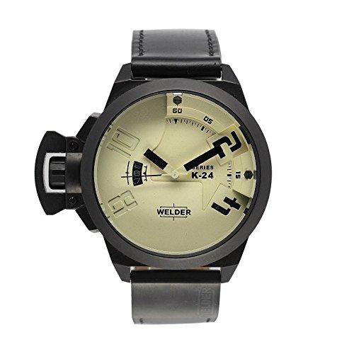 Coffret reloj Welder hombre K-24 modelo Data negra y beige – 3101/1801