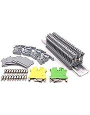 Grevis DIN-rails aansluitblok set, Uk5N aansluiting + aardingsBllCke + aluminium rail + D-Uk End afdekkingen + E/Uk End houders + BrüCken Springer SSTze