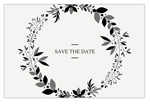 30 Save The Date Cards for Wedding, Engagement, Anniversary, Baby Shower, Birthday Party, Postcard Invitations, Blank Event Announcements, Vintage -