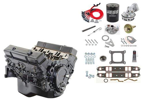 JEGS 7353K Small Block Chevy 350ci Crate Engine Kit Pre-1986 Cast Iron Cylinder