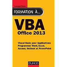 FORMATION À VBA : OFFICE 2013