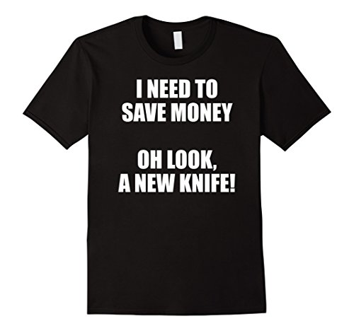Mens Pocket Knife Collector & Enthusiast Funny T-shirt 2XL Black