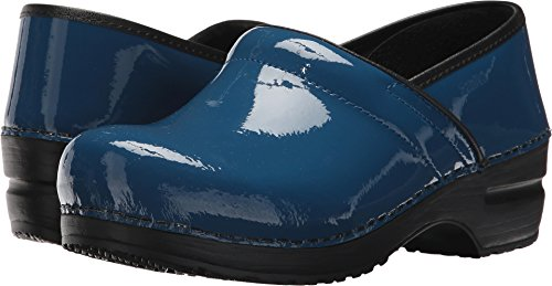 Denim Leather Clogs (Sanita Womens Original Pro. Patent Denim 36 (US Women's 5.5-6) Regular)