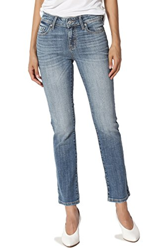 TheMogan Women's Mid Rise Slim Fit Stretch Cropped Boot Cut Jeans Medium 7