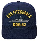 USS FITZGERALD DDG-62 EMBROIDERED SHIP CAP