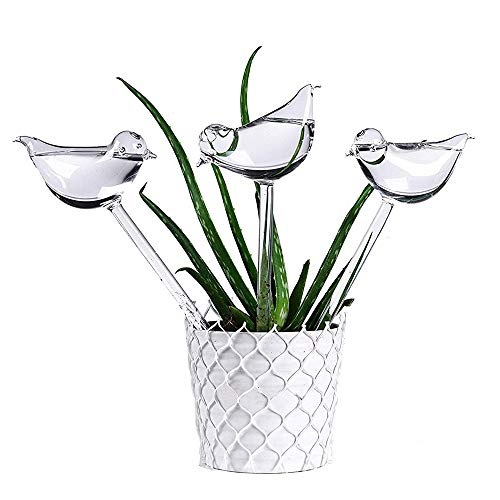Inverlee for Garden Plant Watering Device Indoor Automatic Cute Birds Snail Swan Glass (3Pcs Birds) by Inverlee