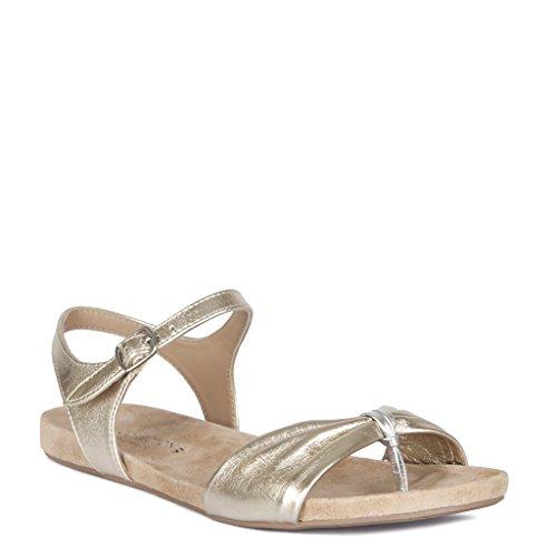 Sandales à en doré cuir Collection femme TJ semelle pour EInxH5wFq