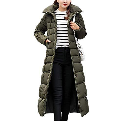 Fanessy Manteau Femme Doudoune Noir Gris Parka avec Capuche Fourrure Longue Cardigan Lache Parka Blouson Veste Chic Mode Trs Chaud Hiver Grande Taille Fourrure Vert