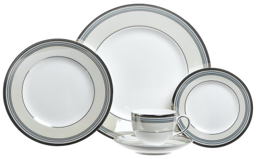 (Wedgwood Lustreware Pacific Stripe 5 Piece Place Setting)
