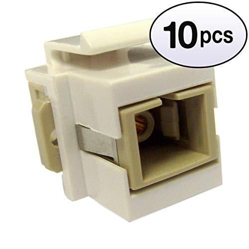 - GOWOS (10 Pack) Keystone, White, SC Fiber Optic Network Coupler