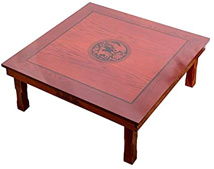 Amazon Com Zqalove Square 80x80cm Korean Floor Table Folding Legs Luxury Antique Home Furniture Table For Dining Traditional Korean Low Table Garden Outdoor