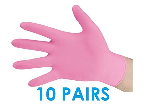 10 PAIRS of Professional Nitrile Gloves for applying Self Tanner, Tanning products - Fake Bake, Xen Tan Mousse, Lotion or Gels by Tourace