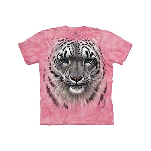 The Mountain Kids' Big Snow Leopard Portrait, Pink, Small