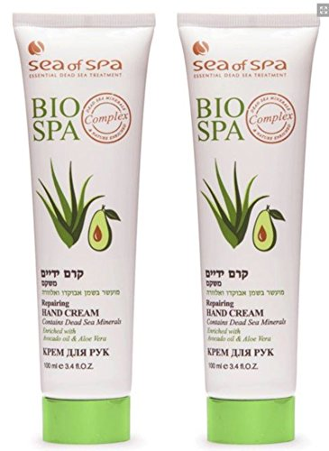 Lot of 2 Sea Of Spa Dead Sea Hand Cream Avocado Aloe Vera