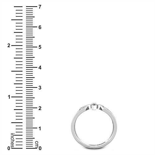 IGI, I-J, SI1-SI2 Candere 0.05 ctw Round Cut Natural Diamond Sterling Silver Rosary Ring for Men