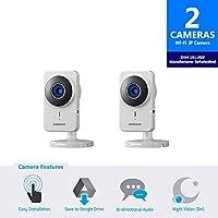Samsung SNH-1011N RF SmartCam IP Camera, White (Pack of 2) (Refurbished)