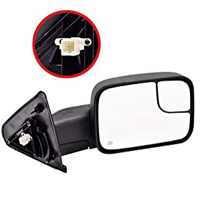 DEDC Dodge Tow Mirrors Dodge Ram Tow Mirrors Power Heated Manual Folding Passenger Side For 2002-2008 1500 2003-2009 2500 3500