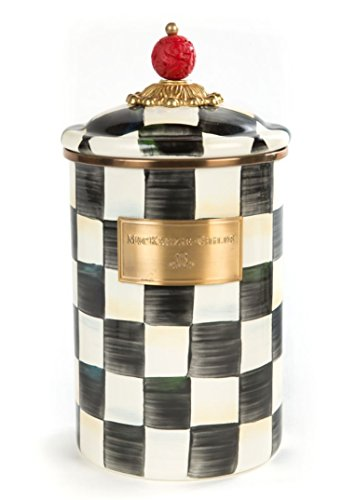 (MacKenzie-Childs Courtly Check Enamel Canister - Large 5