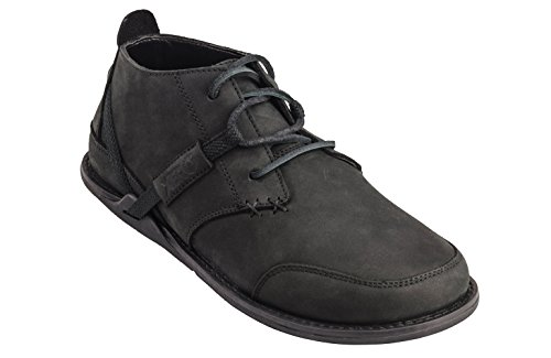 Xero Shoes Coalton - Men's Chukka Style, Barefoot-Inspired Minimalist, Zero-Drop Low Leather Boot - Black (Shoes Men Dress Drop Zero)