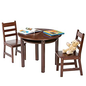 NEW Childrens Round Table And Chair Set (Espresso)