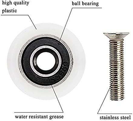 YUANQIAN - Poleas de ducha para puerta de ducha, 19 mm, ruedas de ...