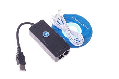 SMAKN® 2 Ports USB 56K External Dial Up Data Fax Modem V.90/92 For Win7 32 64 Bit