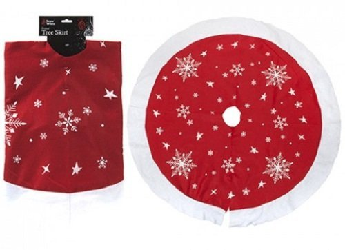 """PMS 36"""" PRINTED TREE SKIRT WITH COLOUR HANGING CARD"""
