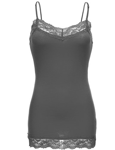 Plus djustable Lace Long Cotton Cami Top - Embroidered Vintage Jersey Shopping Results