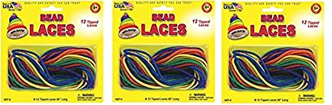 Pepperell Creative Beading Cords, 45-Inch, Assorted Colors, 12 Per Package Notions - In Network HZY3