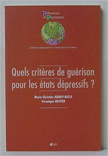 Livres Quels critères de guérison pour les états dépressifs pdf epub