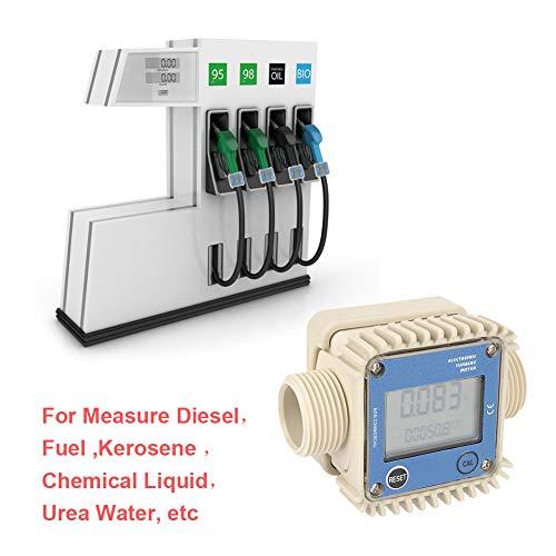 (1″ K24 Chemical Turbine Flow Meter,Digital Gas Oil Fuel Flowmeter,Pump Flow Meter Diesel Fuel Diesel Kerosene Line Pipe Counter for Chemicals Water)