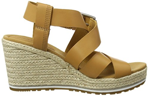 Timberland Nice Coast Cross Strap, Ciabatte Donna Marrone (Biscuit Prince 255)