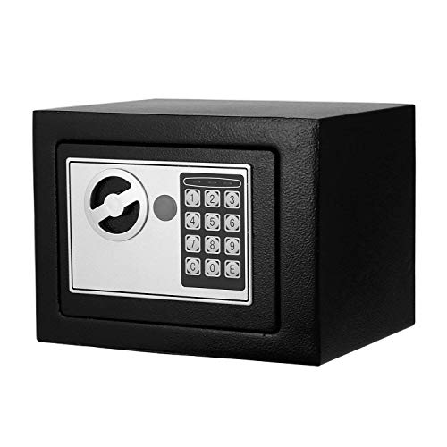 Superday Safe Case Security Lock Box Digital Keypad Lock Wall Cabinet Fireproof Box for Cash Jewelry Gun Storage at Home Hotel Office