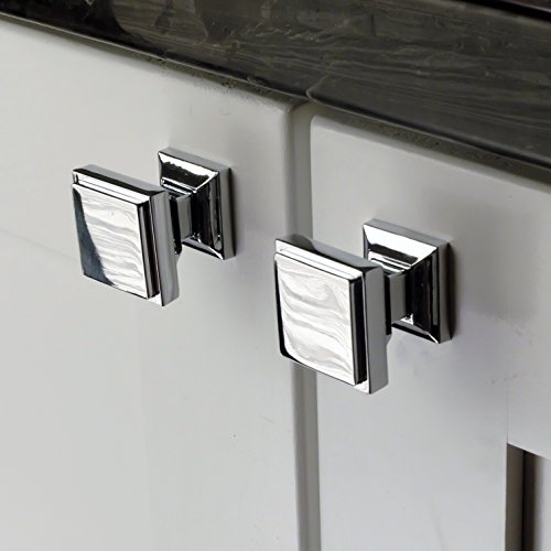 chic Southern Hills Polished Chrome Square Cabinet Knobs - Pack of ...
