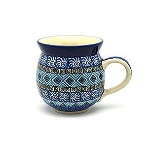 Polish Pottery Mug – 11 oz. Bubble – Aztec Sky
