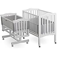 BreathableBaby | Mesh Crib Liner | Portable & Mini Cribs | Made of Lightweight, Breathe-Through Polyester Mesh | Keeps Babys Limbs Safely Inside The Crib Without Restricted Airflow | Grey