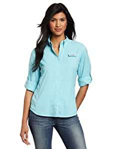 Columbia Women's Plus-Size Tamiami II Long Sleeve Shirt - XX-Large - Clear Blue