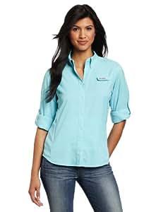 Columbia Women's Tamiami II Long Sleeve Shirt, Clear Blue, X-Small